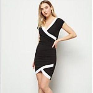 NWT Black Tulip Hem Bodycon Dress juniors XL
